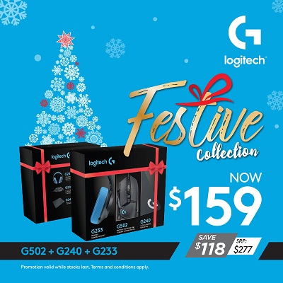 Logitech G502+G233+G240 Bundle Set