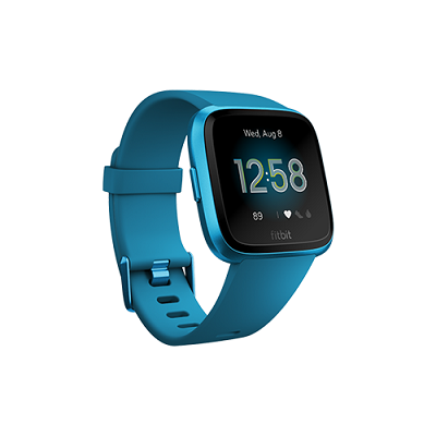 Fitbit Versa Lite Smartwatch (Marina Blue - S & L Size Band Included)