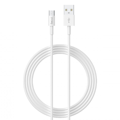 Recci RCM-Z100 USB A to Micro USB Charging Cable 1M (White)