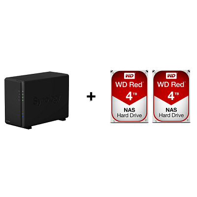 Synology DS216PLAY With WD RED [4TB x 2]