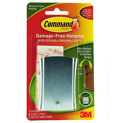 General Home Accessories 3m Command Sticky Nail Wire Back Hanger
