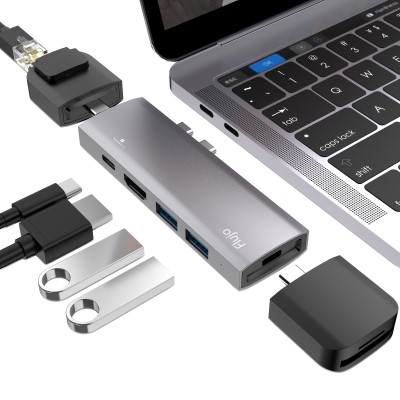 65cc2dbf882 Mobile & Tablet Accessories | Cables | Flujo CH-50 USB TYPE C 10 in 1  modular HUB - Hachi.tech