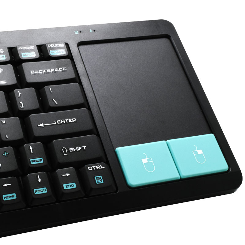 951156cd78a Computer Accessories | Keyboards | Valore 2.4G Wireless Keyboard With  Touchpad (AC85) (Black) - Hachi.tech