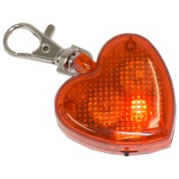 PRS Pet Luminous Buckle -Heart Shape (Red)