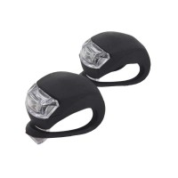 PLG HJ008-2 Bicycle Taillight 1 Pair Light/Set (Black)