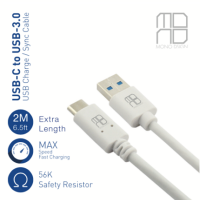 Mono USB 3.0 to USB TYPE C Cable 2M (White)
