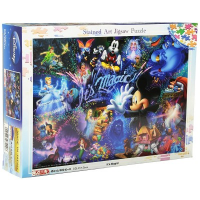 Disney Its Magic! Stained Glass Jigsaw Puzzle (500pcs)