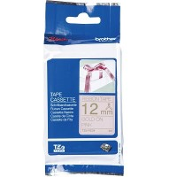Brother Ptouch Gold on Pink ribbon Tape 12mm x 4m (TZe-RE34)