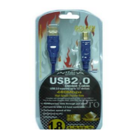 Atake USB 2.0 Type-A Male to Type-B Male Gold Cable (1.8m)