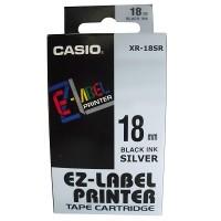 Casio XR-18SR Tape (Black on Silver)