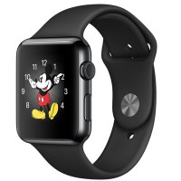 Apple Watch 42mm (Space Black Stainless Steel Case with Black Sport Band)