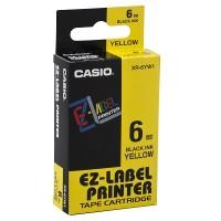 Casio XR-6YW Tape Cartridge (Black on Yellow)