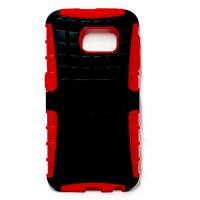 PLG Samsung S6 Rugged Case with Stand (Red)