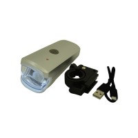 PLG RH351 Bicycle Charging Headlight (Silver)