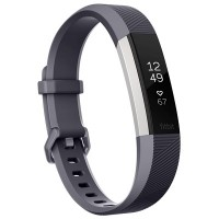 Fitbit Alta HR Fitness Wristband (Blue Grey/Stainless Steel) [Small: 14.0 cm–17.0 cm]