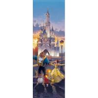 Disney Sunset Waltz (Beauty & Beast) Stained Glass Jigsaw 456pcs