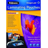Fellowes ImageLast A4 80 Micron Laminating Pouch (100 pack)