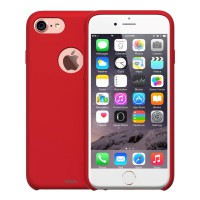 Redmonster iPhone 7/8 Liquid Silicon Case (RMLS-IP7/8-LSR) (Soft Red)