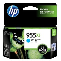 HP 955XL High Yield Cyan Original Ink Cartridge (L0S63AA)