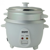 Bear 3-RCT151 1.5L Rice Cooker with Steamer Tray (White)