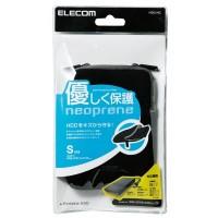 Elecom HDC-NC002BK HDD Case Neoprane (Size- S)  (Black)