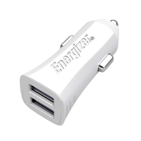 Energizer UL 4.8A 2USB Car Charger Adaptor (EMDCA2DUWH3) (White)