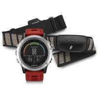 Garmin Fenix 3 GPS + Heart Rate Monitor Sport Watch Bundle (Silver)
