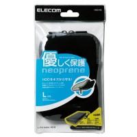Elecom HDC-NC001BK HDD Case Neoprane  (Size - L) (Black)