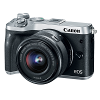 Canon EOS M6 Kit (EF-M15-45mm) - Silver