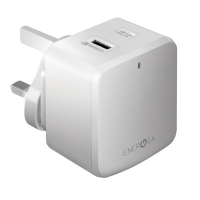 Energea DU-PDQ3-48W-UK Travelite PDQ+QC3 48W 2 USB Charger