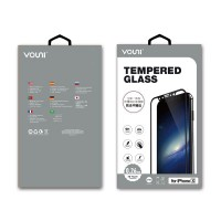 Vouni iPhone X  [0.26mm]  Full Screen Tempered Glass (Black)