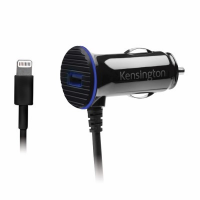 Kensington K39794WW PowerBolt 3.4 Dual Fast Charge Car Charger with Lightning Cable