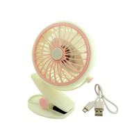 PLG USB Fan With Clip (White)