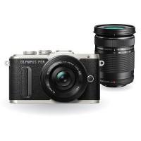 Olympus PEN E-PL8 DSLM Camera Double Lens Kit (Black)