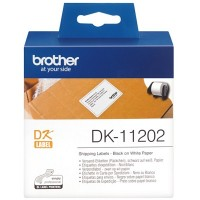 Brother Black on White Label Roll 62mm x 100mm (DK-11202)
