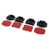 PRS GP09 Flat&Curved Mounts With Adhesive Pads For GoPro Camera (Black)