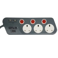 Morries 3M Extension Cord With 2 USB Ports (MS3333)
