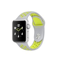 Apple Watch Series 2 Nike+ 42mm Silver Aluminium Case with Silver/Volt Nike Sport Band