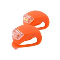 PLG HJ008-2 Bicycle Taillight 1 Pair Light/Set (Orange)