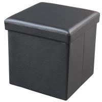 Agva XYFS Foldable Storage Ottoman Single (Black)