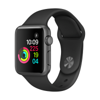 Apple Watch Series 1 42mm (Grey Aluminium Case with Black Sport Band)