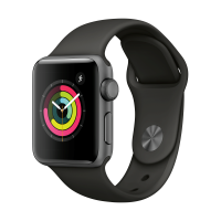 Apple Watch Series 3 GPS 38mm (Space Grey Aluminium Case with Grey Sport Band)
