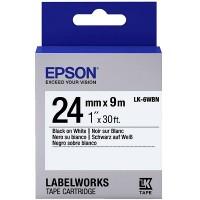 Epson Black on White Tape 24mm x 9m (LK-6WBN)
