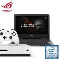 [Xbox Bundle] Asus G752VS(KBL)-GB394T ROG Gaming Notebook (Intel i7, 16GB RAM, 1TB HDD + 256 SSD, GTX1070(8G) + Xbox One S (Godlike Pack)