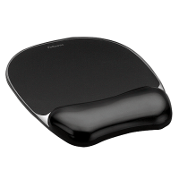 Fellowes Crystal Gel Mouse Pad/Wrist Rest (Black) (F91121)