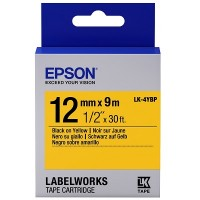 Epson Black on Yellow Tape 12mm x 9m (LK-4YBP)