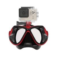 PLG RH351 Diving Mask Gopro Hero 5/4/3+/3/2/1 (Red)