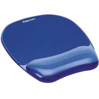 Fellowes Crystal Gel Mouse Pad/Wrist Rest (Blue) (F91141)