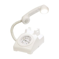 I-Classic Phone Alarm Clock & Lamp (White)