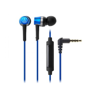 Audio Technica ATH-CKR30iS Earphones + Mic (Blue)